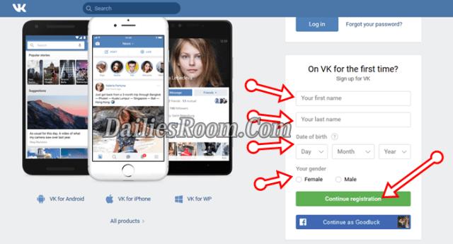New VK Login With Facebook.com | VK Login | VK Sign Up - www.vk.com