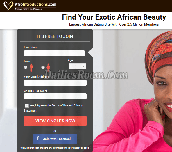 Afrointroduction Sign Up | www.AfroIntroductions.com