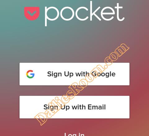 Create Pocket Account - Pocket Registration | www.getpocket.com Sign in