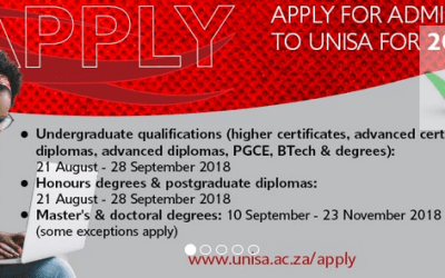 University of South Africa 2019 Application for Admission – How To Apply