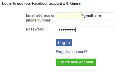 Quora.com Sign in Page - Quora Login With Facebook, Google