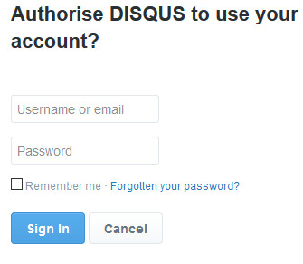 Disqus Sign in Page - Disqus Login With Google, Twitter, And Facebook