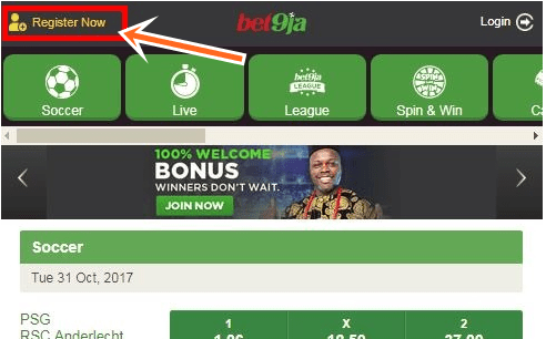 Bet9ja Mobile Registration for Sports.Bet9ja Mobile Booking Online