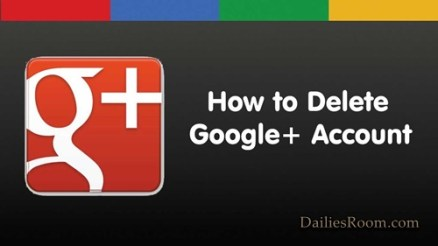How To Delete Google Plus Account - Google+ Account Deletion Page