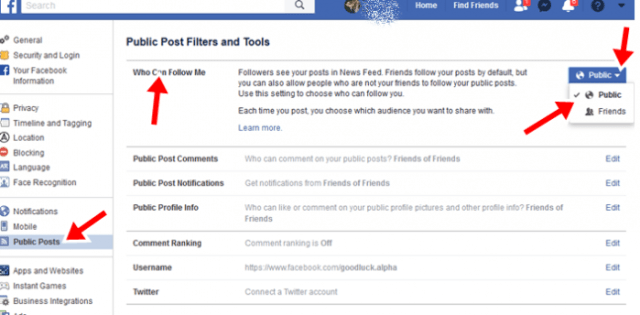 Change Add Friend to Follow Button on Facebook Profile
