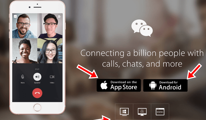 Wechat login with Facebook Account, WeChat Download, Sign Up WeChat