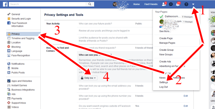 How To Hide Facebook Friend List From Public - FB Friends List privacy