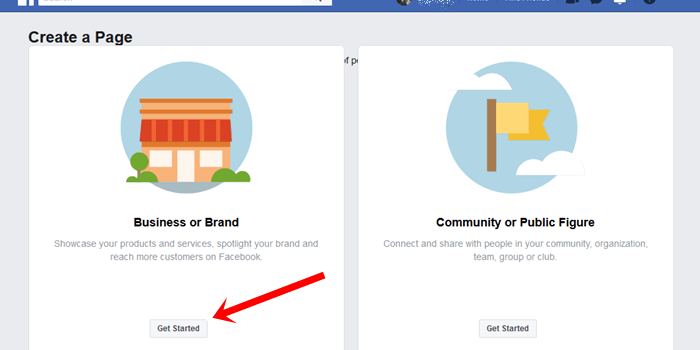 Create Facebook for Business at www.facebook.com/pages/create