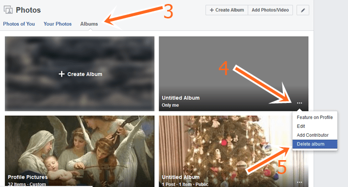 How To Delete Photos From Facebook Album Using FB Website