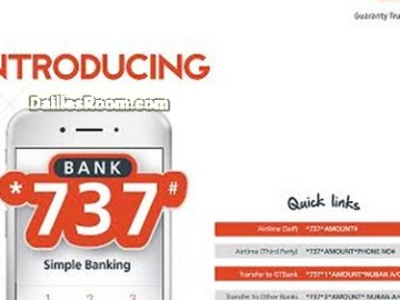 GTBank Quick Links For Easy Transactions: Check Balance, Buy Airtime