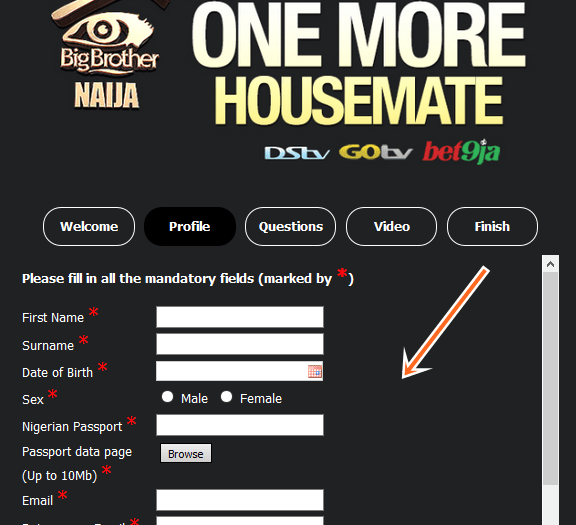 www.africamagic.tv/BBAudition - Online Big Brother Naija season 4 Audition