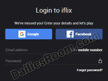 Iflix Sign in Portal: Iflix Login With Email Address Or Facebook Account