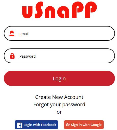 usnapp ng Web Sign In Portal: uSnapp Facebook Login Steps