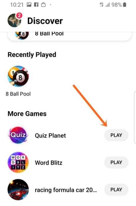 FaceBook Game Ads