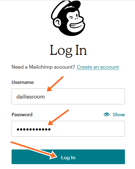 Steps To Sign Up Mailchimp Mailing List - Mailchimp Account Log In