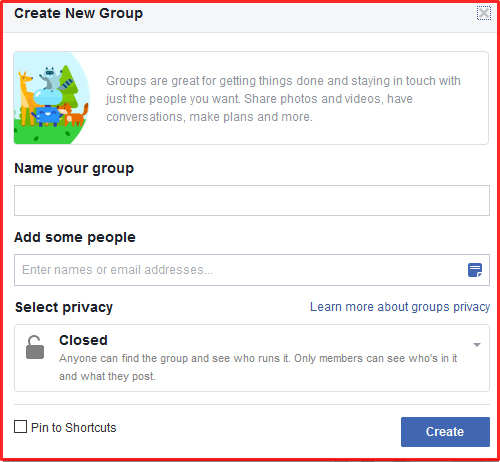 How To Create Facebook Group Page On www.facebook.com