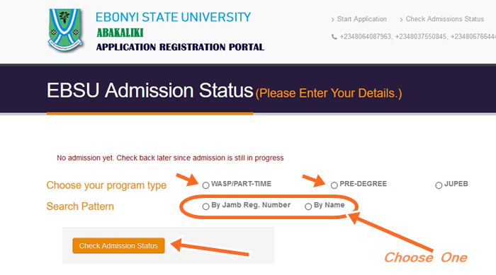 How To Check Ebonyi State Admission List Online