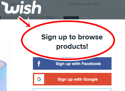 Wish Official Site Without Signing in | Wish Shopping Online Website