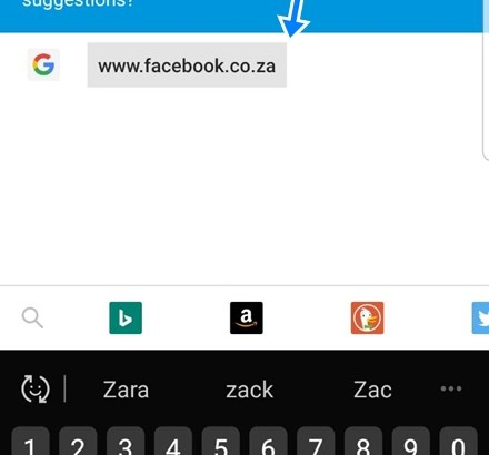 Facebook In South Africa sign Up