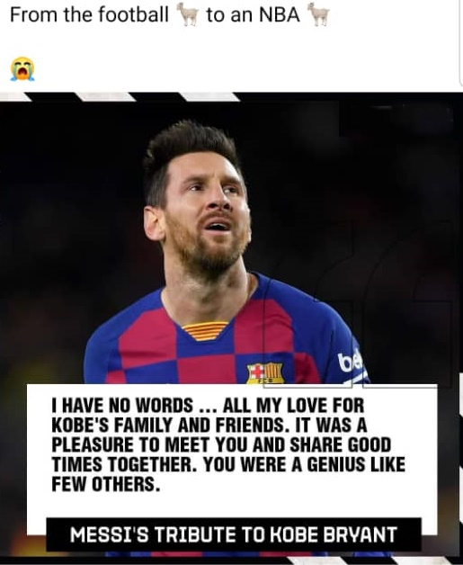 Messi tribute to Kobe