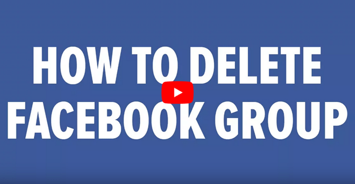 How Do I Delete A Facebook Group? - Facebook Delete A Group