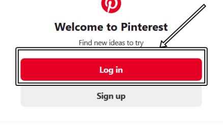 Pinterest Log in With Registered Email Address & Password