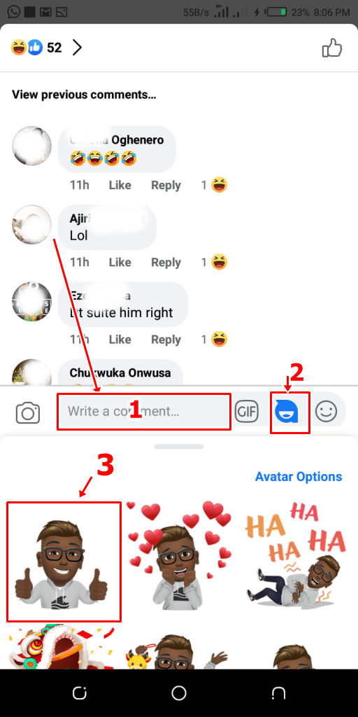 Facebook Avatar In Comment Box | Facebook Avatar For Comments