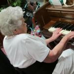 playing hymns