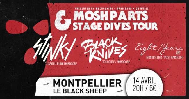 [LIVE REPORT] STINKY + BLACK KNIVES – 14.04 – Le Black Sheep – Montpellier (34)