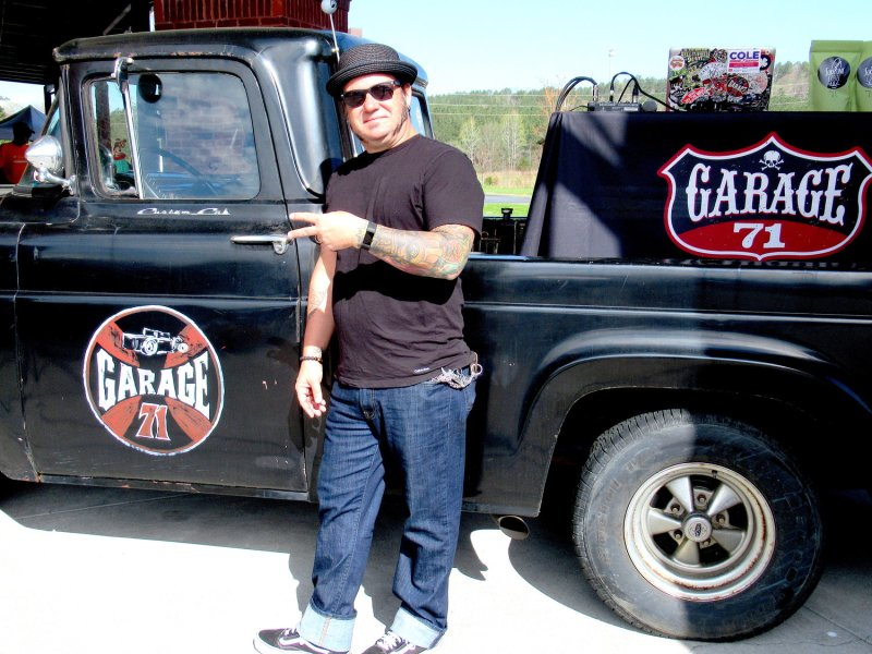 """Brian """"Big Boy"""" Whitcomb of Garage71 Radio served as the emcee for Saturday's """"Swap Invasion"""" event at Southern Devil Harley-Davidson in Cartersville."""