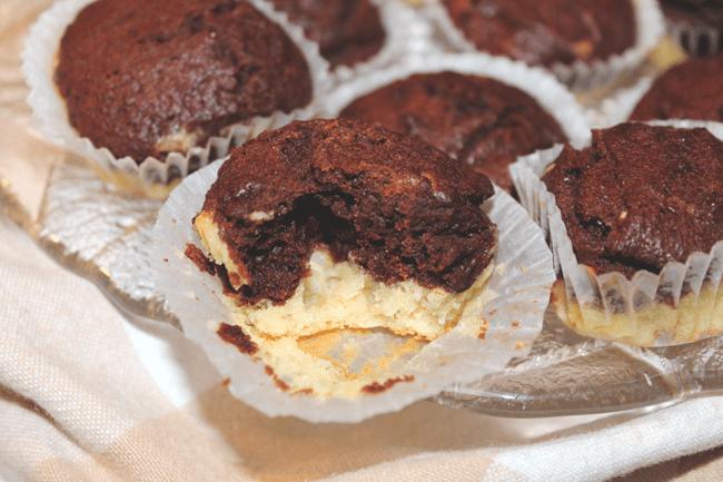 Mini cake chocolat banane