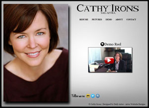 Cathy Irons Actress Website