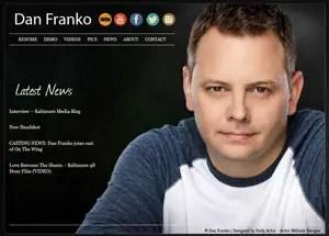 Actor Website Design and Website Templates