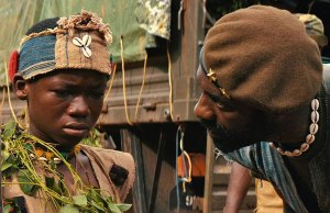 Abraham Attah and Idris Elba Beasts of No Nation