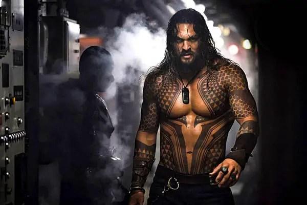 Actor Jason Momoa as Aquaman