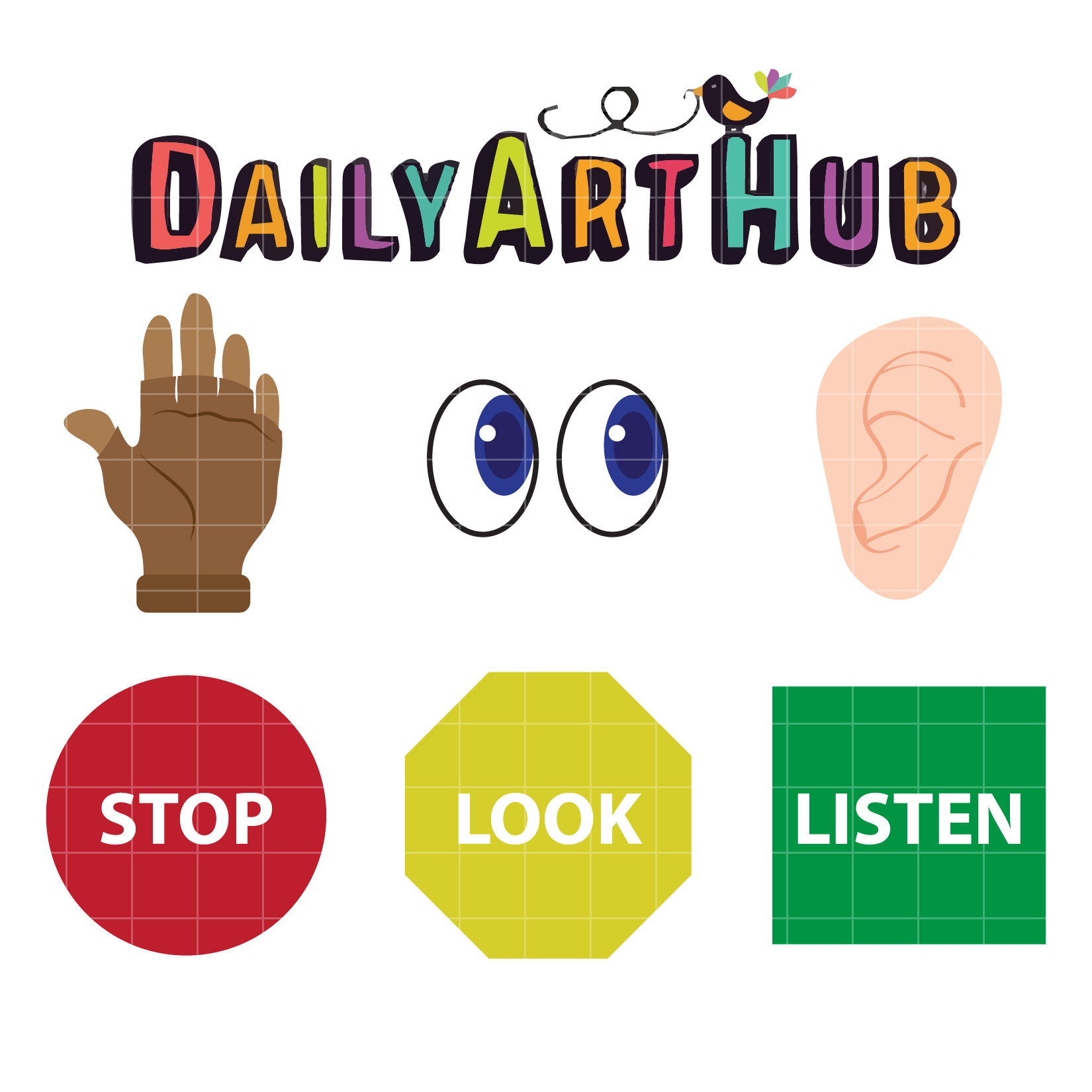 Stop Look And Listen Clip Art Set Daily Art Hub Free