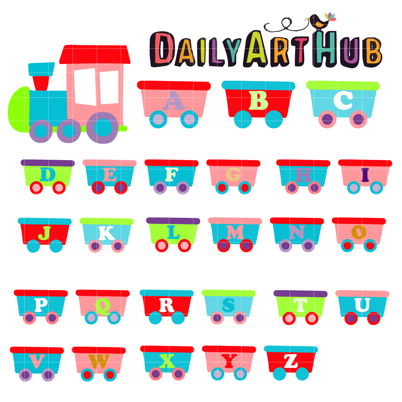 Train Alphabet Clip Art Set Daily Art Hub Free Clip