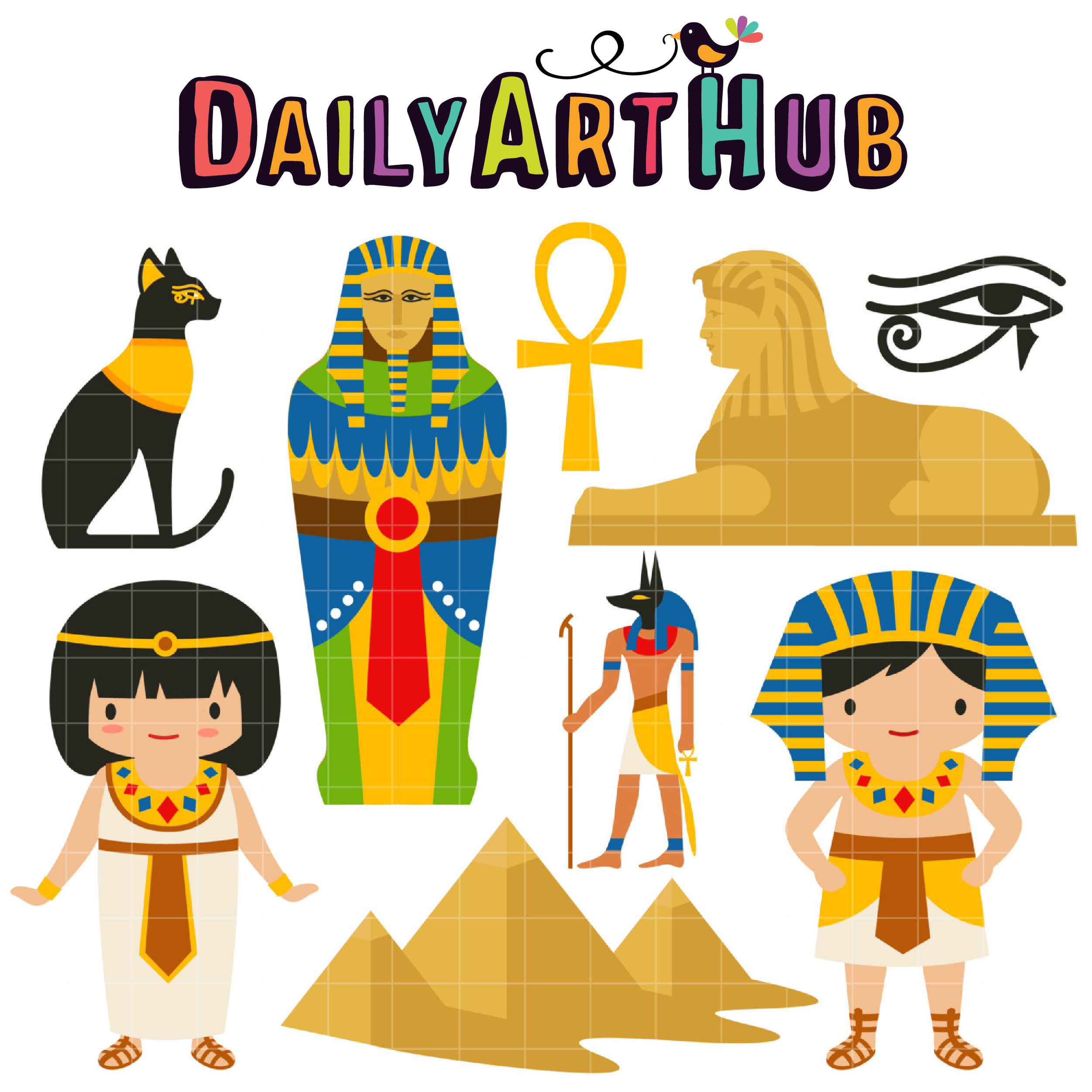 Ancient Egypt Clip Art Set Daily Art Hub Free Clip Art