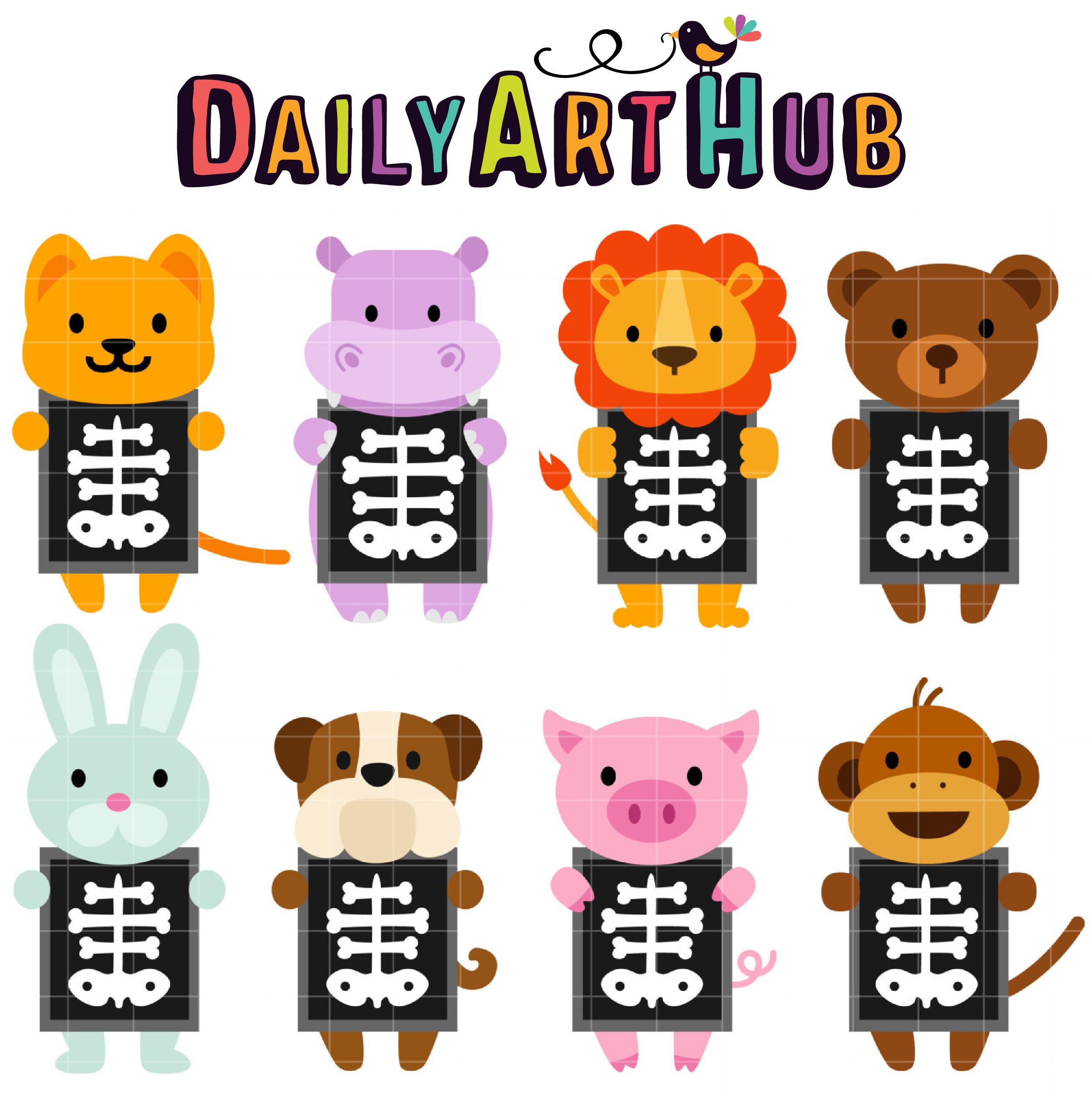 X Ray Animals Clip Art Set Daily Art Hub Free Clip Art
