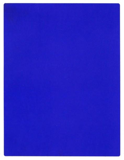 Yves Klein, IKB 191, 1962, Blue Yves Klein