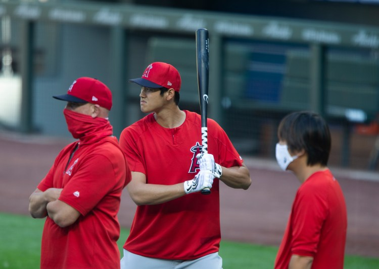 With his pitching season over, Angels' Shohei Ohtani takes ...
