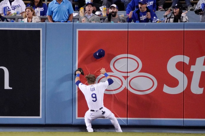 A day later, the Dodgers can joke about Gavin Lux crashing into the outfield wall