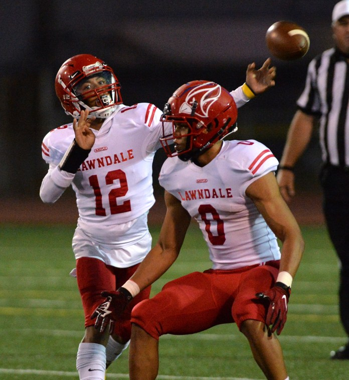 Lawndale Football takes control in the fourth quarter to defeat North Torrance