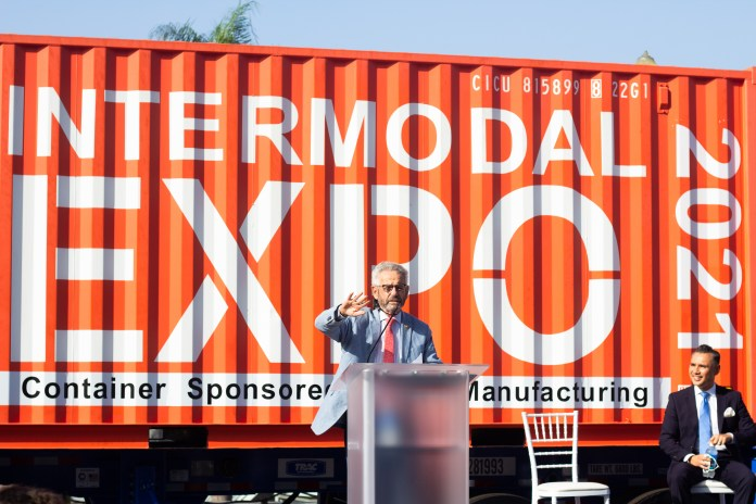 Cargo records, climate change, infrastructure bills at Long Beach trade-related expo
