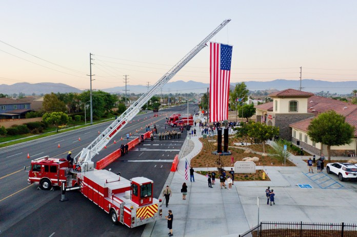 Eastwell has unveiled a 9/11 monument with a sculpture of the Twin Towers