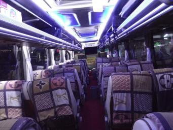Foto Kabin bus Surya Bali Waktu Malam