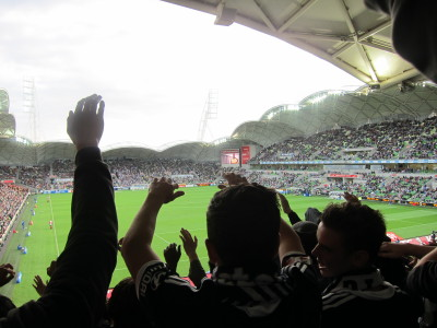 Soccer game at AAMI Park