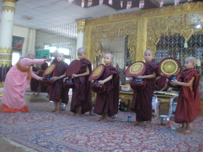 And then the novices dressed as monks.