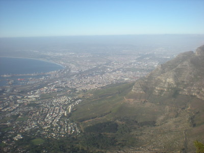 The view from the top of Table Mountain