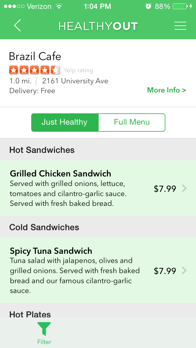 Apps For Healthy Eating Fast Food